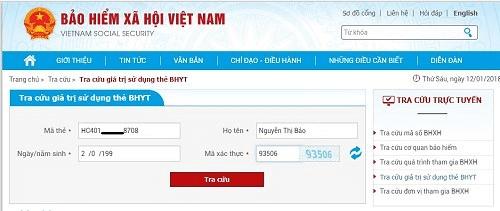 Trang chủ của Bảo hiểm xã hội Việt Nam