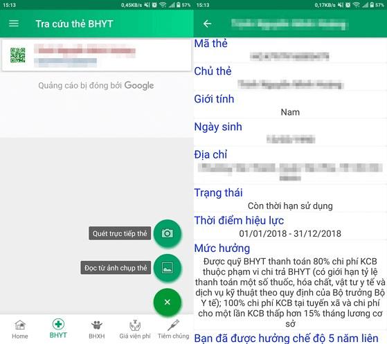 App tra cứu BHYT trên điện thoại thông minh